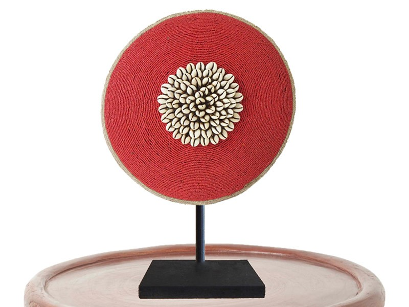 Red Shield on Bamileke Stool