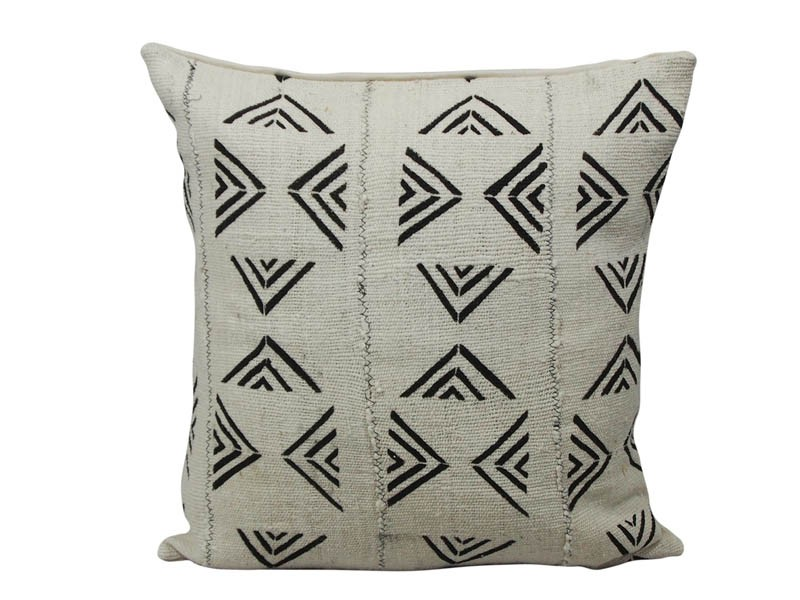 White with Black Arrow Pattern