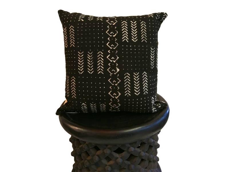 "African Mud Cloth Cushion Cover 45 x 45 cm / 18"" x 18"""