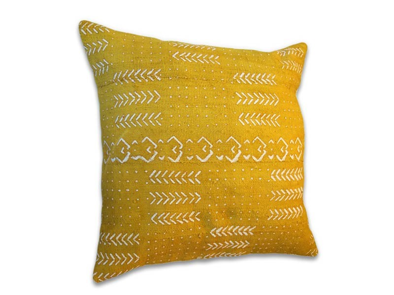 "African Mud Cloth Cushion Cover 45 x 45 cm / 18"" x 18"""