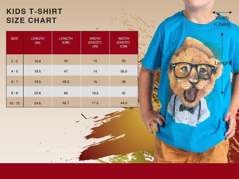 Kids size chart