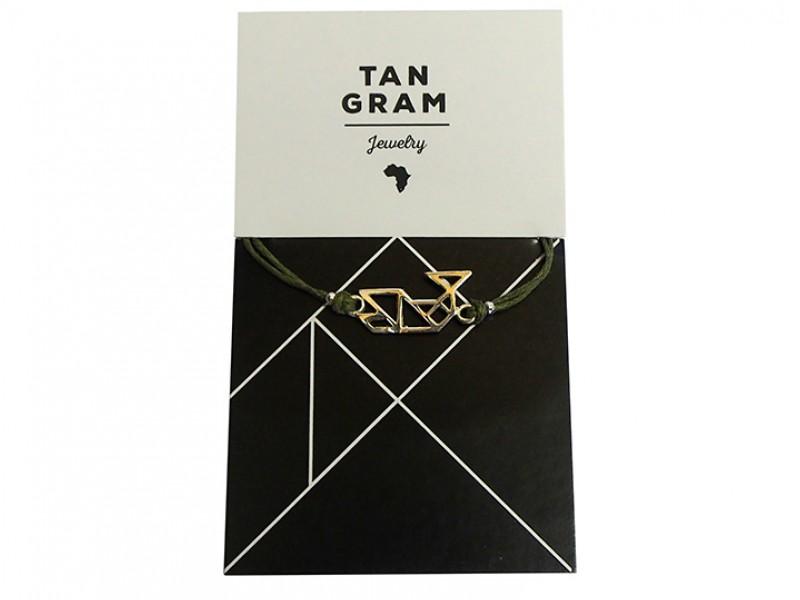 Tangram Bracelet - Whale