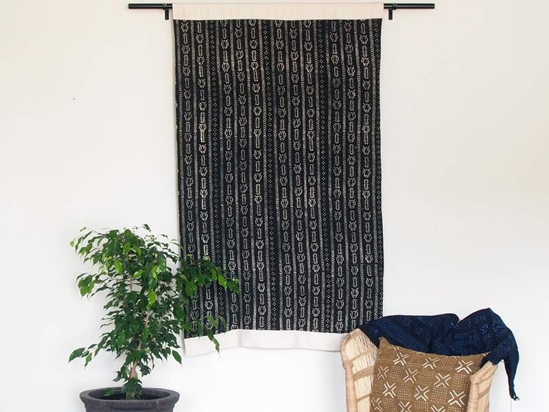 Black wall hanging