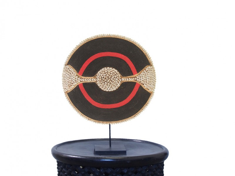 Black with Red Ring and Cowrie Band