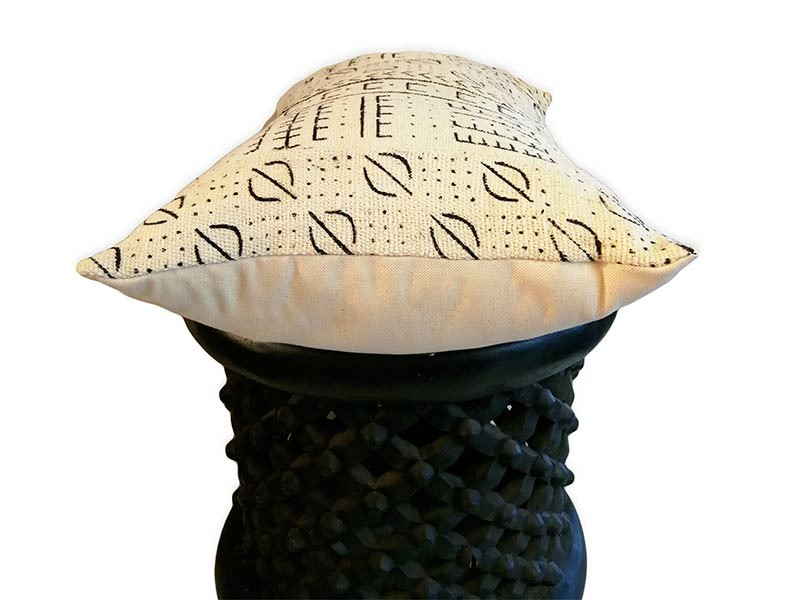 Mud Cloth Cushion Cover - Black and White Pattern