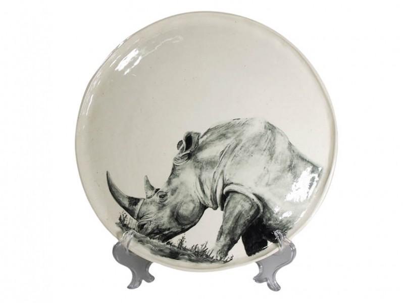 Rhino on Display Stand