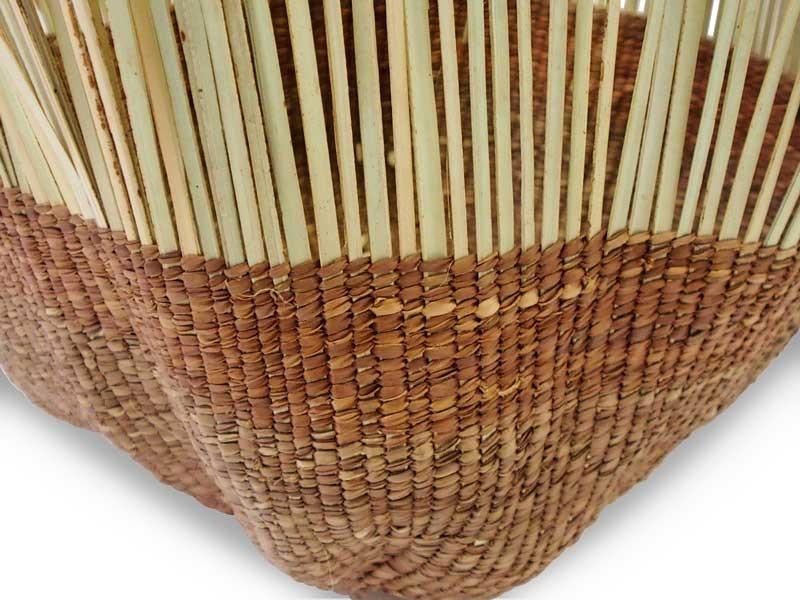 Tassel Basket_Brown_Focus