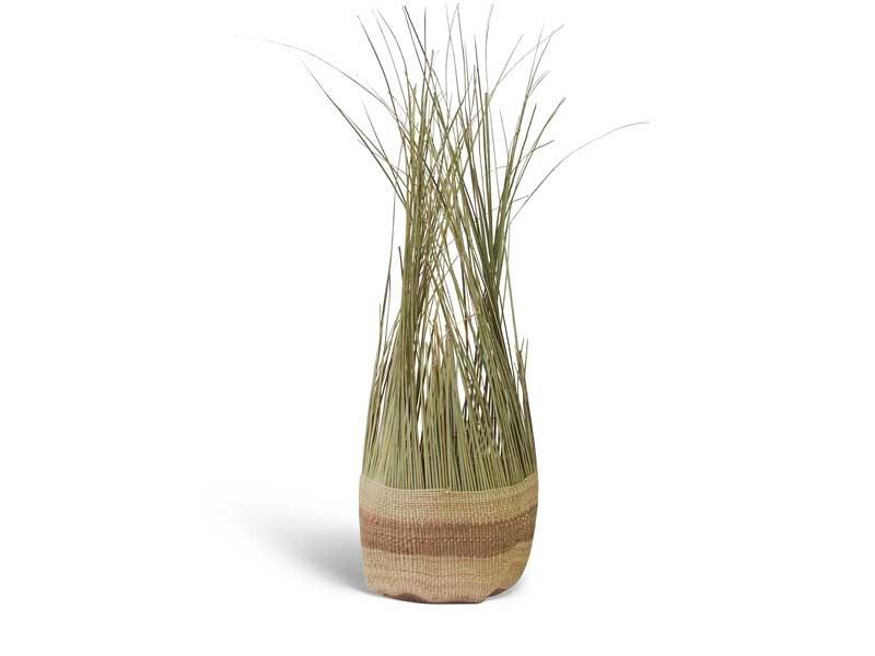 Tassel Basket_Natural Stripe_Large
