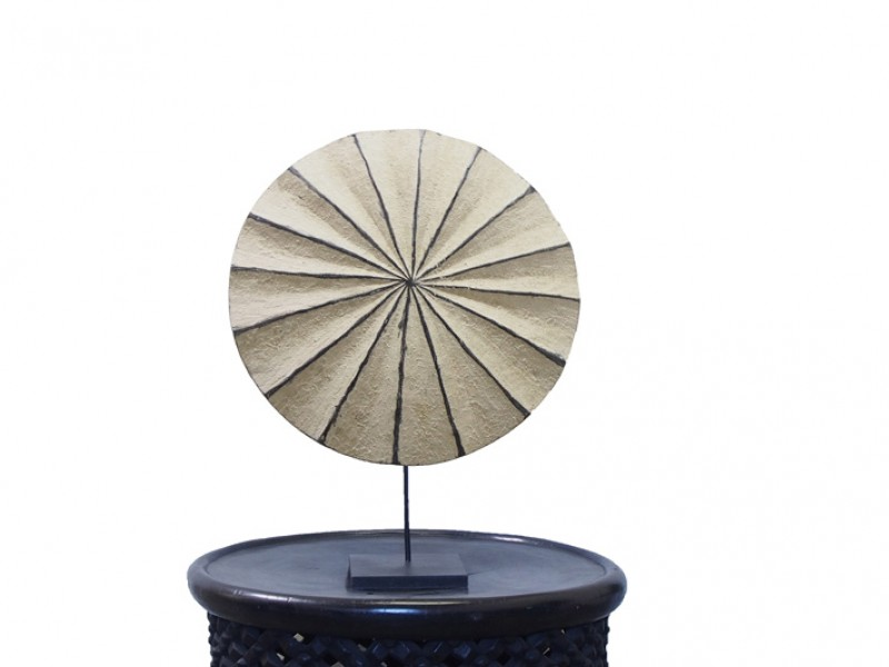 Wooden Pansy Shell Design Shield