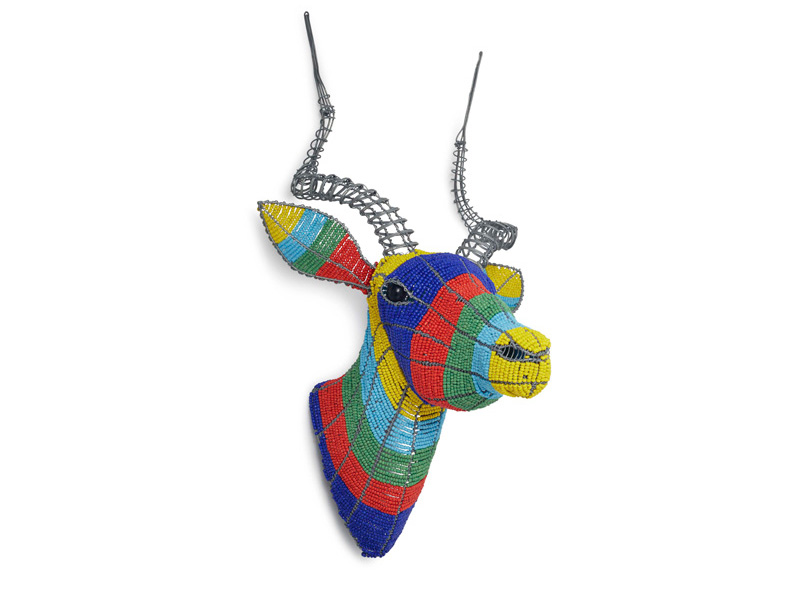 Colourful Beaded Kudu Wall Hanging